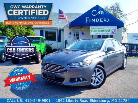 2014 Ford Fusion for sale at CAR FINDERS OF MARYLAND LLC - Certified Cars in Eldersburg MD
