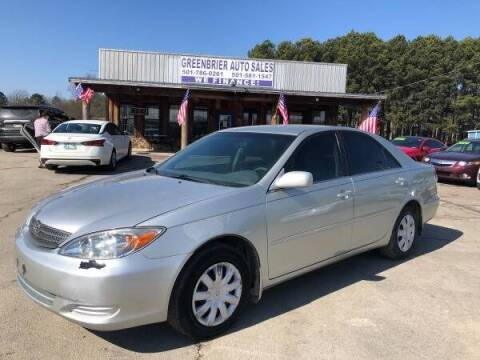 2002 Toyota Camry for sale at Greenbrier Auto Sales in Greenbrier AR