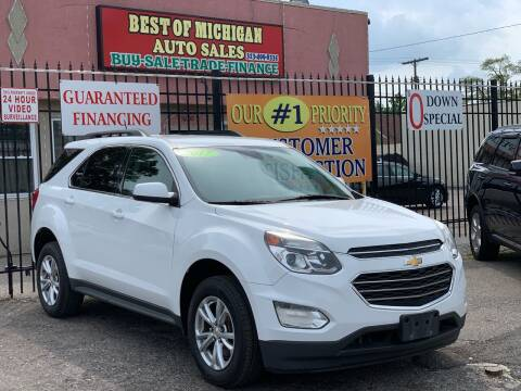 2017 Chevrolet Equinox for sale at Best of Michigan Auto Sales in Detroit MI