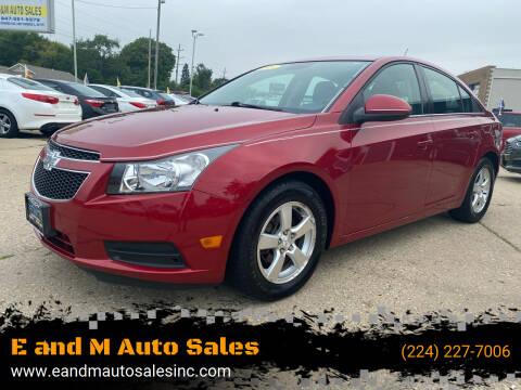 2013 Chevrolet Cruze for sale at E and M Auto Sales in Elgin IL