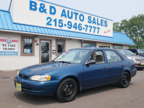 1999 Toyota Corolla for sale at B & D Auto Sales Inc. in Fairless Hills PA