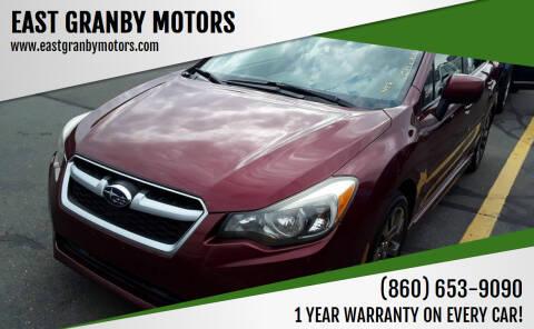 2012 Subaru Impreza for sale at EAST GRANBY MOTORS in East Granby CT