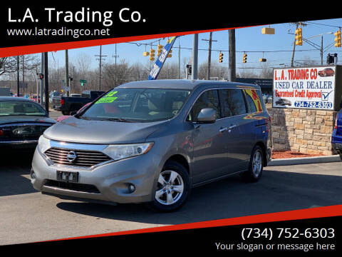 2012 Nissan Quest for sale at L.A. Trading Co. Woodhaven in Woodhaven MI