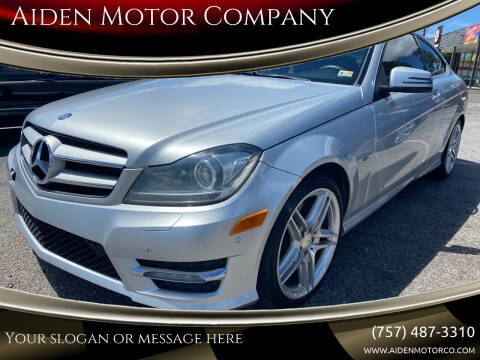 2012 Mercedes-Benz C-Class for sale at Aiden Motor Company in Portsmouth VA