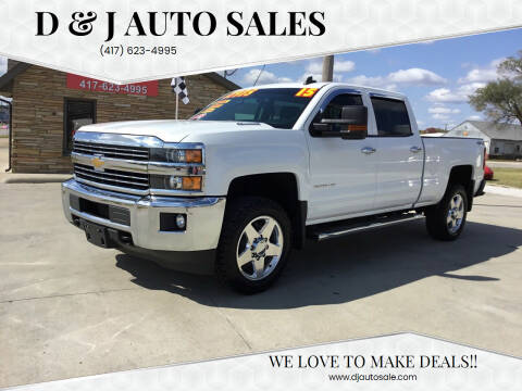 2015 Chevrolet Silverado 2500HD for sale at D & J AUTO SALES in Joplin MO