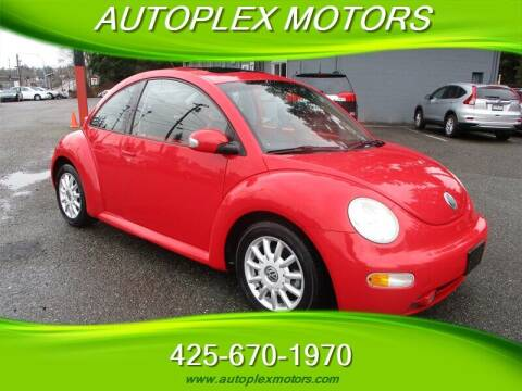 2004 Volkswagen New Beetle for sale at Autoplex Motors in Lynnwood WA