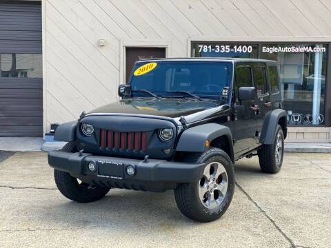 2010 Jeep Wrangler Unlimited for sale at Eagle Auto Sales LLC in Holbrook MA