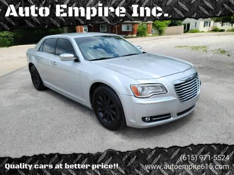 2012 Chrysler 300 for sale at Auto Empire Inc. in Murfreesboro TN