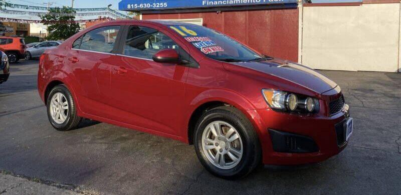 2016 Chevrolet Sonic for sale at Latino Motors in Aurora IL