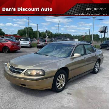 2002 Chevrolet Impala for sale at Dan's Discount Auto in Gaston SC
