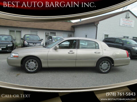 2007 Lincoln Town Car for sale at BEST AUTO BARGAIN inc. in Lowell MA