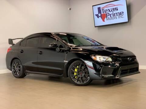 2018 Subaru WRX for sale at Texas Prime Motors in Houston TX