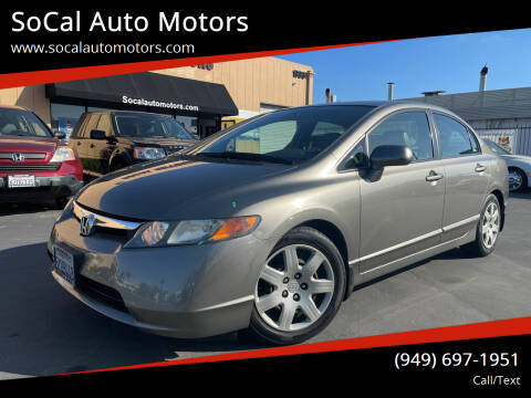 2007 Honda Civic for sale at SoCal Auto Motors in Costa Mesa CA