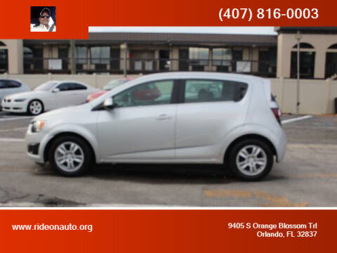 2016 Chevrolet Sonic for sale at Ride On Auto in Orlando FL