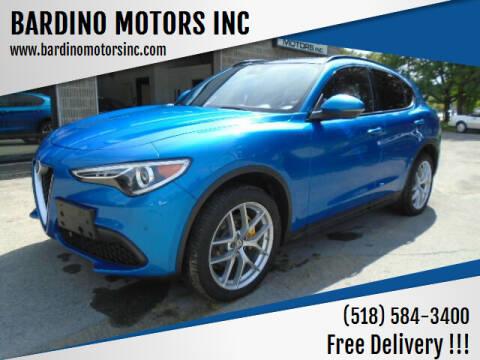 2018 Alfa Romeo Stelvio for sale at BARDINO MOTORS INC in Saratoga Springs NY
