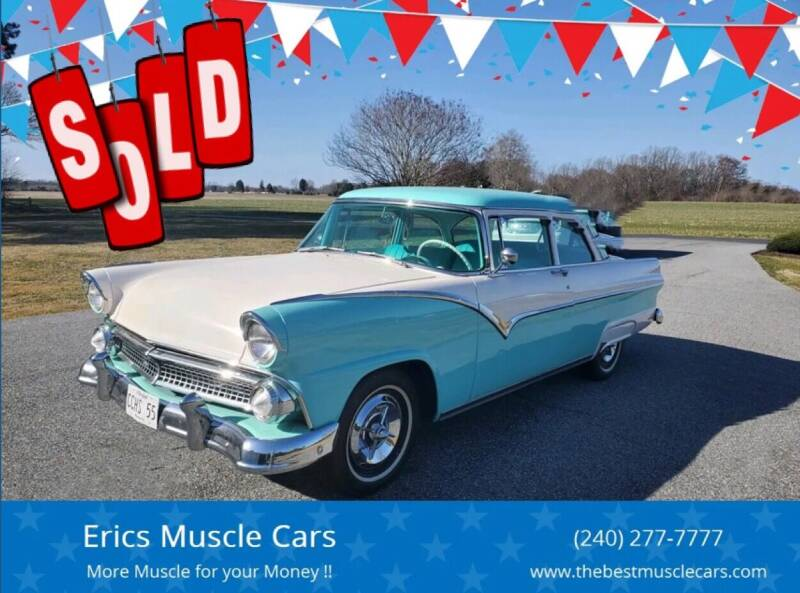 1955 Ford Fairlane for sale at Erics Muscle Cars in Clarksburg MD