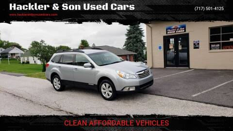 2012 Subaru Outback for sale at Hackler & Son Used Cars in Red Lion PA