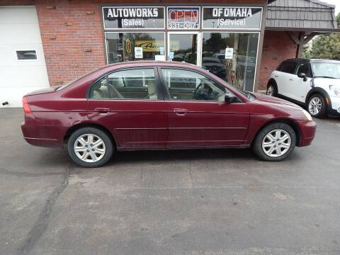 2003 Honda Civic for sale at AUTOWORKS OF OMAHA INC in Omaha NE