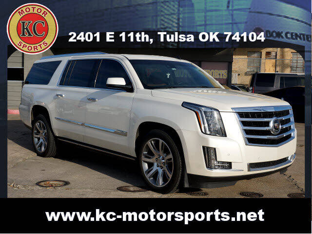 2015 Cadillac Escalade ESV for sale at KC MOTORSPORTS in Tulsa OK