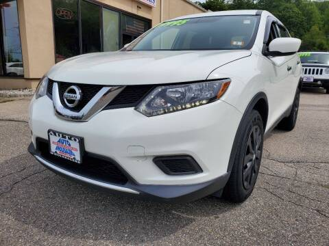2016 Nissan Rogue for sale at Auto Wholesalers Of Hooksett in Hooksett NH