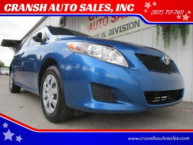 2010 Toyota Corolla for sale at CRANSH AUTO SALES, INC in Arlington TX