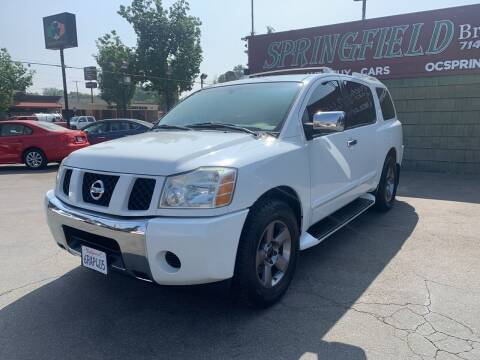 2005 Nissan Armada for sale at SPRINGFIELD BROTHERS LLC in Fullerton CA