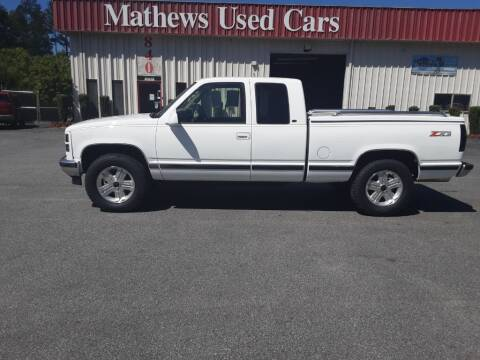 1998 GMC Sierra 1500 for sale at Mathews Used Cars, Inc. in Crawford GA