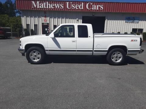 1998 GMC Sierra 1500 for sale at Mathews Used Cars, Inc. in Crawford GA