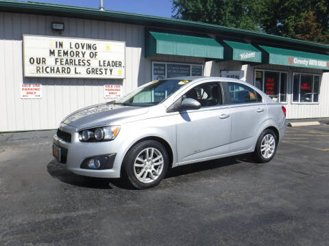2012 Chevrolet Sonic for sale at GRESTY AUTO SALES in Loves Park IL
