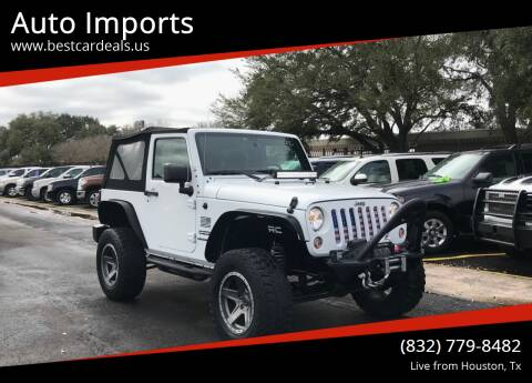 2016 Jeep Wrangler for sale at Auto Imports in Houston TX