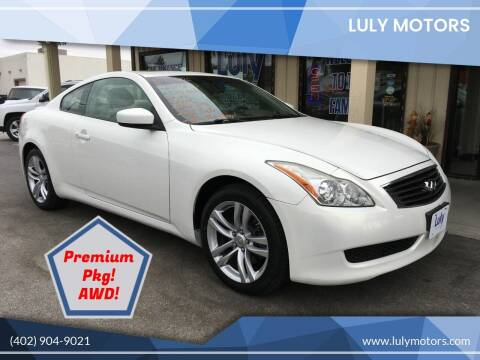 2009 Infiniti G37 Coupe for sale at Luly Motors in Lincoln NE