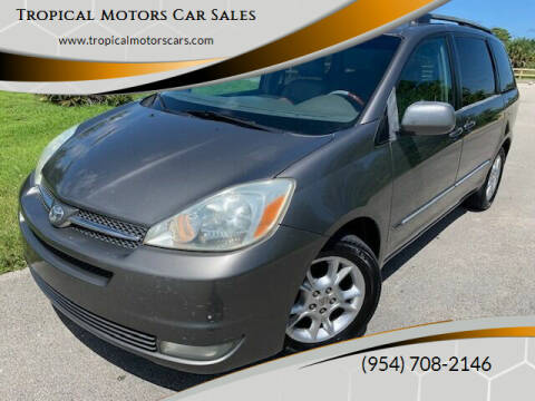 2005 Toyota Sienna for sale at Tropical Motors Car Sales in Deerfield Beach FL