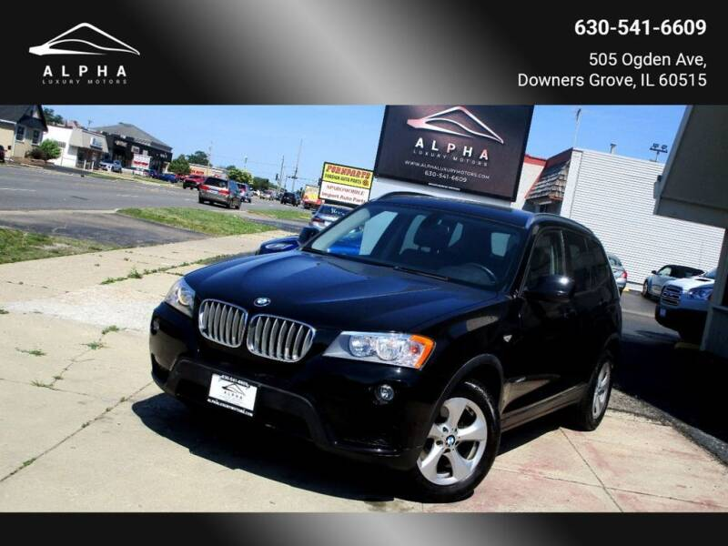 2012 BMW X3 for sale at Alpha Luxury Motors in Downers Grove IL