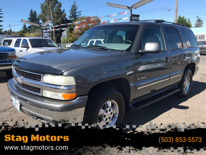 2001 Chevrolet Tahoe for sale at Stag Motors in Portland OR
