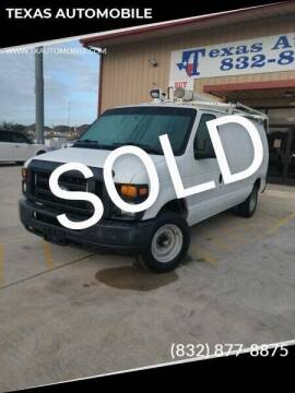 2012 Ford E-Series Cargo for sale at TEXAS AUTOMOBILE in Houston TX