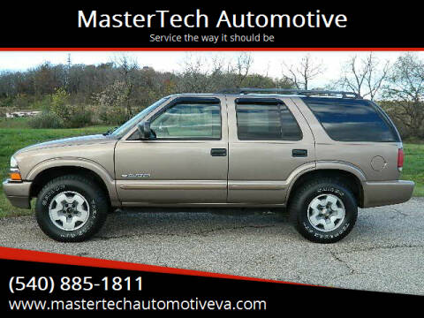 2004 Chevrolet Blazer for sale at MasterTech Automotive in Staunton VA