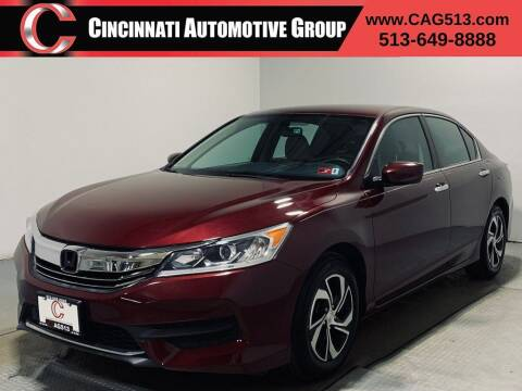 2016 Honda Accord for sale at Cincinnati Automotive Group in Lebanon OH