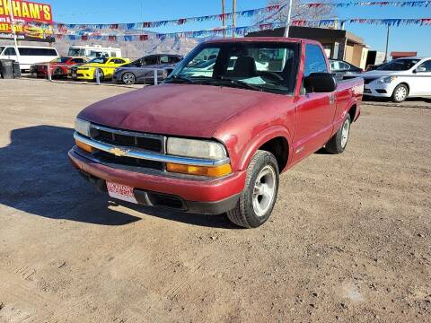 2000 Chevrolet S-10 for sale at Bickham Used Cars in Alamogordo NM
