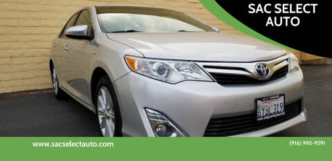 2012 Toyota Camry Hybrid for sale at SAC SELECT AUTO in Sacramento CA