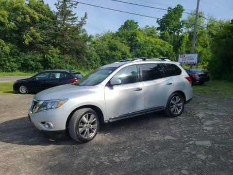 2013 Nissan Pathfinder for sale at B & B GARAGE LLC in Catskill NY