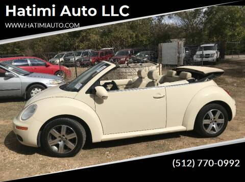 2006 Volkswagen New Beetle Convertible for sale at Hatimi Auto LLC in Buda TX