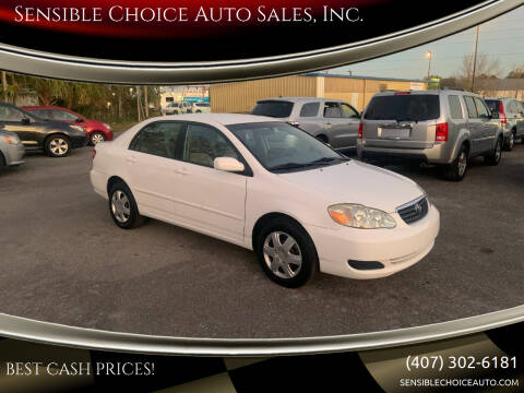 2005 Toyota Corolla for sale at Sensible Choice Auto Sales, Inc. in Longwood FL