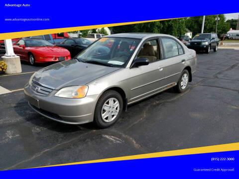 2003 Honda Civic for sale at Advantage Auto Sales & Imports Inc in Loves Park IL