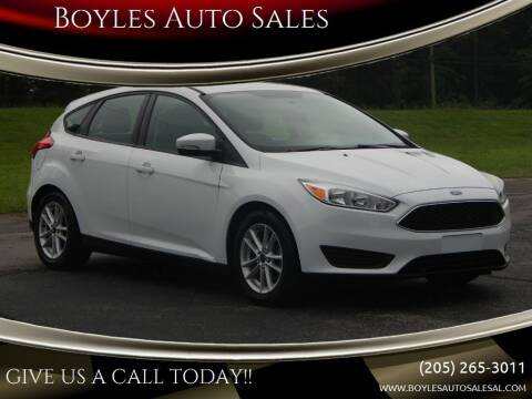 2015 Ford Focus for sale at Boyles Auto Sales in Jasper AL
