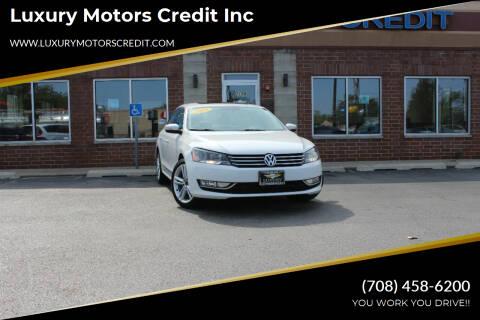 2015 Volkswagen Passat for sale at Luxury Motors Credit Inc in Bridgeview IL