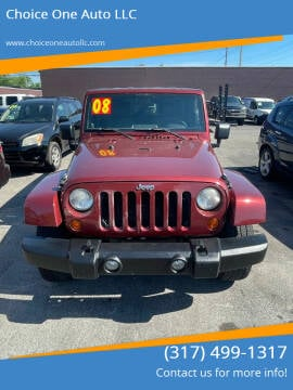2008 Jeep Wrangler Unlimited for sale at Choice One Auto LLC in Beech Grove IN