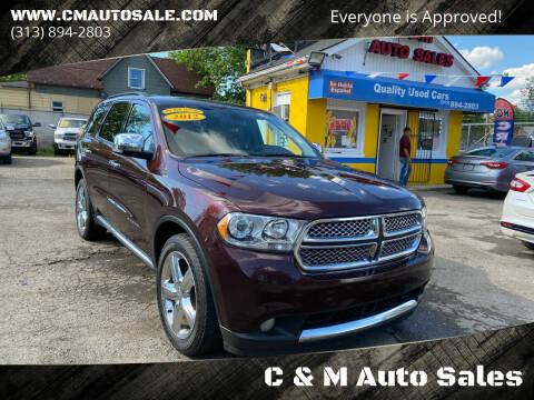 2012 Dodge Durango for sale at C & M Auto Sales in Detroit MI