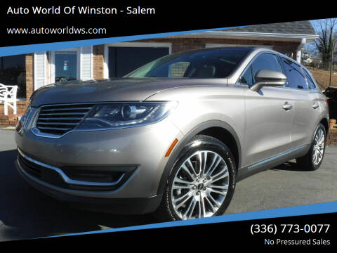 2018 Lincoln MKX for sale at Auto World Of Winston - Salem in Winston Salem NC