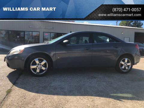 2008 Pontiac G6 for sale at WILLIAMS CAR MART in Gassville AR