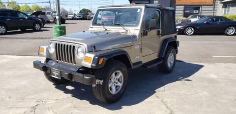 2002 Jeep Wrangler for sale at Persian Motors in Cornelius OR